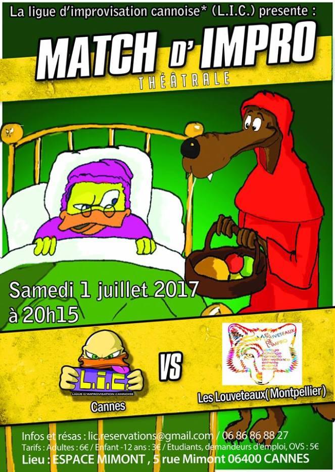 170701 LIC vs Les Louveteaux Affiche