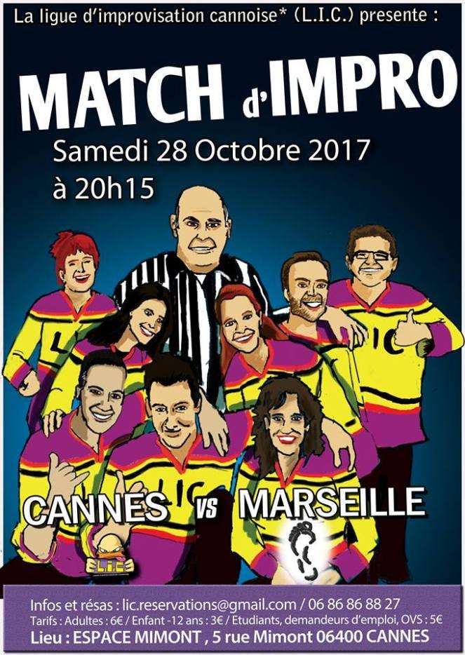 2017-10-28 LIC vs Les Improsteurs Affiche